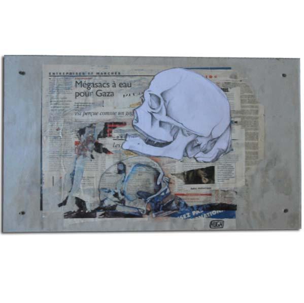 Tableaux d'art contemporain de Hugues Bernard en décollage d'affiches