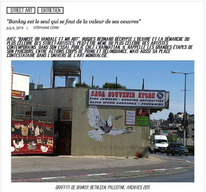 Le dernier livre de Hugues BERNARD sur Banksy, l'arpenteur, Nîmes